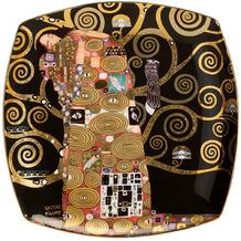 """Goebel Teller Gustav Klimt - """"Die Erfüllung"""" 21 x 21 cm"""