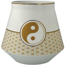 """Goebel Tischlampe Lotus - """"Yin & Yang"""" 17,5 cm"""