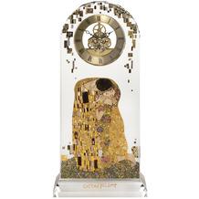 """Goebel Tischuhr Gustav Klimt - """"Der Kuss"""" 15,0 x 32,0 cm"""