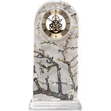 Goebel Tischuhr Vincent van Gogh - Mandelbaum Silber 15x32 cm