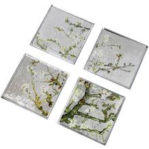 "Goebel Untersetzer Vincent van Gogh - ""Mandelbaum silber"" 0,5 cm"