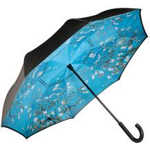 """Goebel Upside-Down Schirm Vincent van Gogh - """"Mandelbaum blau"""" 108,0 cm"""