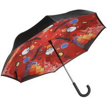 "Goebel Upside-Down Schirm Wassily Kandinski - ""Schweres Rot"" 108,0 cm"