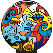 """Goebel Vase Billy The Artist - """"Together / Two in One"""" 20,0 cm"""