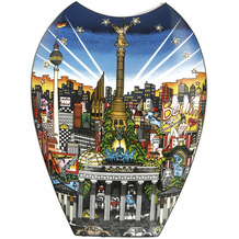 Goebel Vase Charles Fazzino - New York / Berlin 47,0 cm
