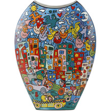 Goebel Vase James Rizzi - City Birds 30,0 cm