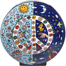 "Goebel Vase James Rizzi - ""Give Peace a Chance"" 20,0 cm"