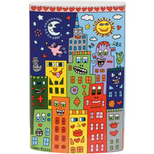"Goebel Vase James Rizzi - ""Love in the Heart of the City"" 20,0 cm"