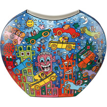 Goebel Vase James Rizzi - Not getting around the traffic 21,0 cm
