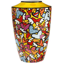 "Goebel Vase Romero Britto - ""All we need is love"" 41,0 cm"