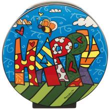 """Goebel Vase Romero Britto - """"Happy"""" 20,0 cm"""