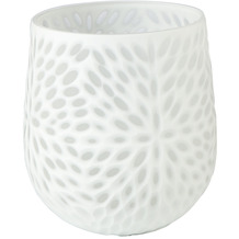 Goebel Vase White Carved 17,0 cm