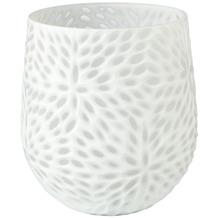 Goebel Vase White Carved 22,5 cm