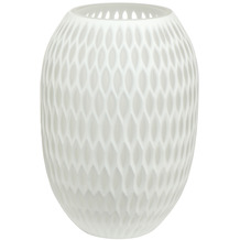 Goebel Vase White Carved 24,0 cm