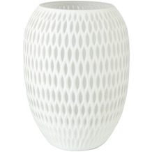 Goebel Vase White Carved 29,0 cm