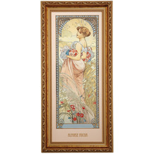 "Goebel Wandbild Alphonse Mucha - ""Sommer 1900"" 27,0 x 57,0 cm"
