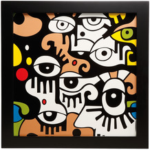 "Goebel Wandbild Billy The Artist - ""Looking into the future I"" 33,5 x 33,5 cm"