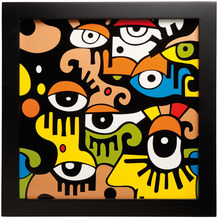 Goebel Wandbild Billy The Artist - Looking into the future II 33,5 x 33,5 cm