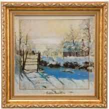 """Goebel Wandbild Claude Monet - """"Winterlandschaft"""" 31,5 x 31,5 cm"""