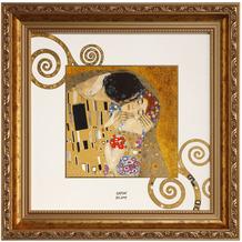 "Goebel Wandbild Gustav Klimt - ""Der Kuss"" 31,5 x 31,5 cm"