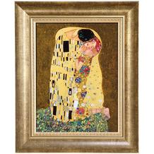 "Goebel Wandbild Gustav Klimt - ""Der Kuss"" 34,0 cm"