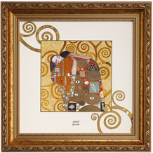 """Goebel Wandbild Gustav Klimt - """"Die Erfüllung"""" 31,5 x 31,5 cm"""