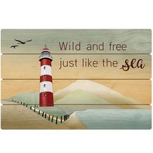 Goebel Wandbild Lighthouse / Wild and free 60,0 x 40,0 cm