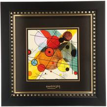 "Goebel Wandbild Wassily Kandinsky - ""Kreise im Kreis"" 25,5 x 25,5 cm"