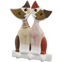 """Goebel Wandhaken Rosina Wachtmeister - Katzenpaar """"Arcana"""" 14,0 cm"""