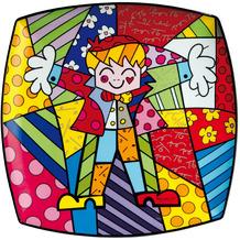 "Goebel Wandteller Romero Britto - ""Hug Too"" 30,5 x 30,5 cm"