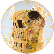 "Goebel Wanduhr Gustav Klimt - ""Der Kuss"" ø30,5 cm"