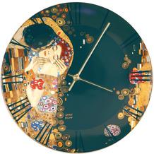 """Goebel Wanduhr Gustav Klimt - """"Der Kuss"""" 5,0 cm"""