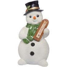 Goebel Weihnachten Schneemänner Frostiger Winter - mit Thermometer