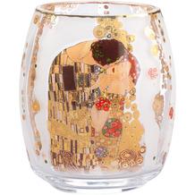 Goebel Windlicht Gustav Klimt - Der Kuss 13,5 cm