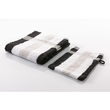 Gözze Frottierserie New York Streifen weiß/silber/schwarz Duschtuch 70 cm x 140 cm