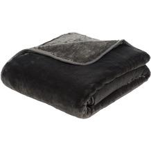 Gözze Premium Cashmere-Feeling Decke anthrazit 180x220 cm