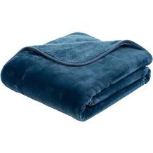 Gözze Premium Cashmere-Feeling Decke blau 180x220 cm