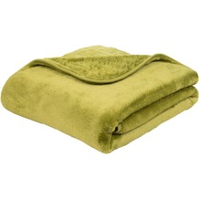 Gözze Premium Cashmere-Feeling Decke limonegrün 180x220 cm