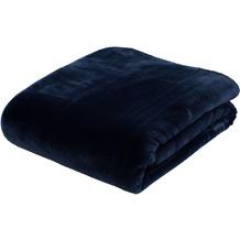 Gözze Premium Cashmere-Feeling Decke marine 180x220 cm