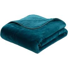 Gözze Premium Cashmere-Feeling Decke petrol 180x220 cm