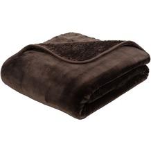 Gözze Premium Cashmere-Feeling Decke schoko-braun 180x220 cm