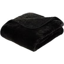 Gözze Premium Cashmere-Feeling Decke schwarz 180x220 cm