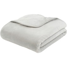 Gözze Premium Cashmere-Feeling Decke silber 180x220 cm