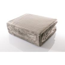 Gözze Premium Memphis Decke silber 150 x 200 cm