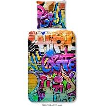 Good Morning Bettwäsche Graffiti 135x200cm + 1x 80x80cm