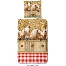 Good Morning Bettwäsche Horses sand 135x200cm + 1x 80x80cm