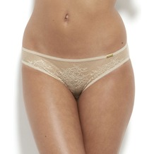 Gossard Glossies Lace String Nude L