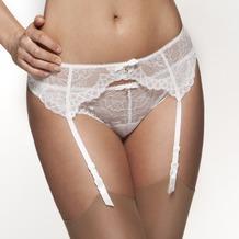 Gossard Lace Strumpfgürtel White L