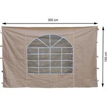 Grasekamp 2 Seitenteile 300x193cm zu Sahara  3x3m Sichtschutz Sonnenschutz Windschutz