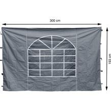 Grasekamp 2 Seitenteile 300x193cm zu Sahara 3x3m Grau